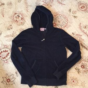 Juicy Couture Black terry cloth tracksuit jacket